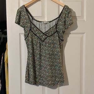 Women's printed short sleeve shirt
